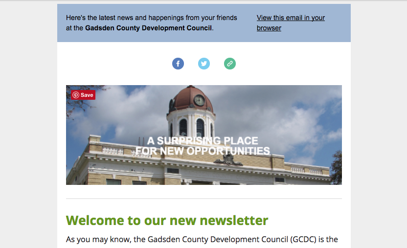 Image of Gadsden County Development Council Email List and Newsletter